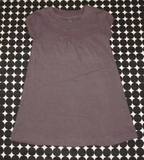 Girls Zara Purple Ribbed Knit Soft Cotton Blend Short Sleeve Tunic Top 11/12