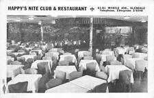 HAPPY'S NITE CLUB & RESTAURANT Myrtle Ave, Glendale, NY c1930s Vintage Postcard