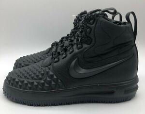 Women's Nike Lunar Force 1 Duck Boots Black AA0283 001 Size 7.5