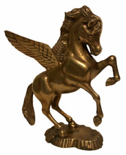 """Pegasus Vintage Solid Brass 8 7/8"""" Flying Horse Mythical Magical Figurine Deco"""