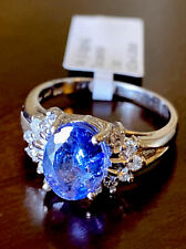14k White Gold Tanzanite Diamond Ring