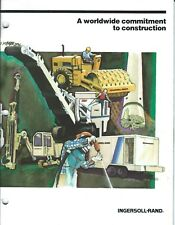 Equipment Brochure Ingersoll Rand Construction Product Line 1987 E4014