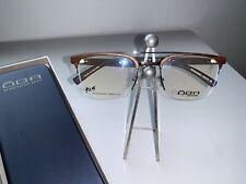 Oga By Morel New Natural Wood Semi Rimless Eyeglass Frame 100600