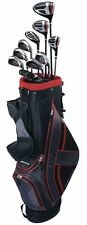 TOP-FLITE XL 13 PIECE MEN COMPLETE GOLF SET W/BAG RIGHT HAND BLACK/RED NEW 2017