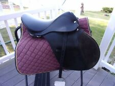 16.5'' ASCOT BLACK LEATHER A/P  English Saddle  WITH WEBBERS & IRONS MED/WIDE