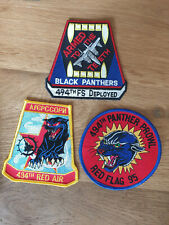 USAF patch set 5 3 RAF Lakenheath patches F-15E 494 FS EFS See other sets