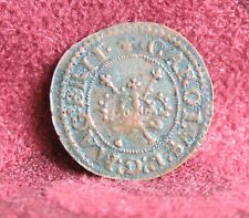 1625 - 1644 Ireland Copper Farthing World Coin Irish Harp Crown King Charles I