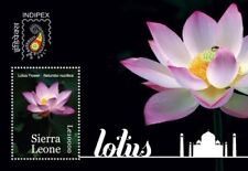 Sierra Leone 2011 - INDIPEX Lotus Flower - S/S MNH