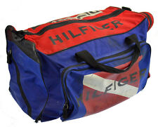 Tommy Hilfiger Duffle Bag Vintage 90s Colorblock Flag Gym Large DIVE CHARTER