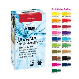 KREUL Batikfarbe Textilfarbe JAVANA  70g Färbefarbe Stofffarbe färben ve.Farben