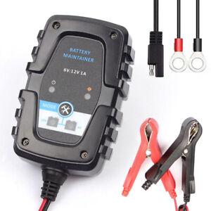 6V/12V Bleiakku Ladegerät Batterieladegerät Intelligent ABS Schwarz EFB AGM DE