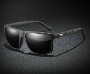 Gafas De Sol Polarizadas Para Hombre Lentes Cuadrado Sport Espejo Sunglasses Men