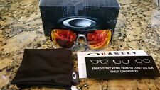 OAKLEY TRIGGERMAN 9266-10 Black Ink Ruby Iridium Lens Sunglasses. VETERAN OWNED!