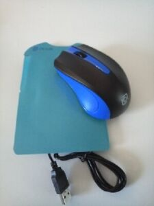 Mouse wired for computer(usb connector) Oklick-Black/Blue