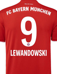 Lewandowski #9 2021 Bayern Munich 2021  Soccer Player Jersey Size M