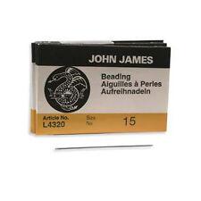 John James English Beading Needles Size 15 43050 Sewing Craft BULK Pack 25 L4320