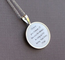 "I'll love you forever, I'll like you for always...""  Necklace Robert Munsch"