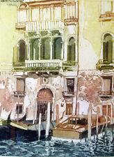 "RARE ORIGINAL MIRANDA HALSBY R.B.A ETCHING ""Venetian Palazzo Doorway"""