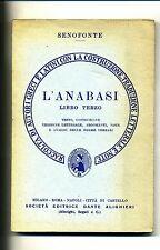 Senofonte # L'ANABASI # VOL.3 # Dante Alighieri 1972