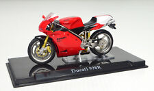 DUCATI 998R Rojo Escala 1:24 Moto Modelo de Atlas die-cast