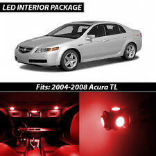 2004-2008 Acura TL Red Interior LED Lights Package Kit