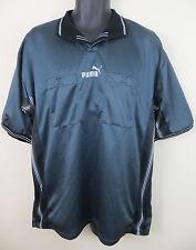 Puma Rétro Arbitre Football shirt Soccer Jersey Gris trikot Homme maglia XL