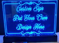 Custom Personalized A4 Acrylic Engraved Neon LED