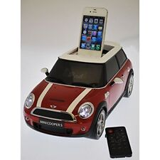 NEW STEEPLETONE MINI COOPER MP3 SOUND SYSTEM WITH IPOD DOCK USB PORT MD9i - RED