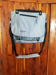 Jansport Messenger Laptop Bag Padded Adjustable Shoulder Strap Blue unisex