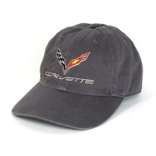 C7 Corvette Charcoal Gray Garment Washed Cotton Hat - UNSTRUCTURED