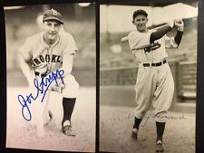 Joe Stripp Brooklyn Dodger Signed Postcard 1920s Debut JSA Pre-certified
