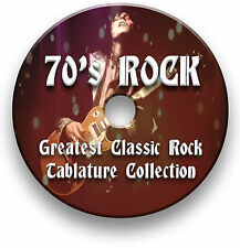 260+ CLASSIC 70's ROCK GUITAR TABS TABLATURE SONG BOOK SOFTWARE CD