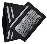 Mens Thinnest Slim Leather Wallet Money Credit Card ID Front Pocket Holder Black