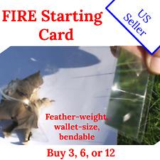 Fresnel Lens Fire Starter - Lots of 3, 6, 12 - wallet-size - Us Seller