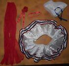 NWT Dance Patriotic White Tutu Sequin Red Blue Edging Sailor Gob Hat Sm Child
