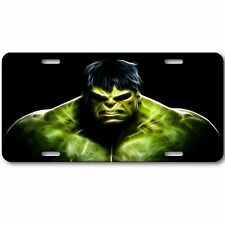 Hulk Novelty Aluminum Car License Plate Tag Black and Green New Incredible Cool!