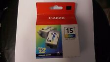 Genuine Canon BCI -15 colour print cartridge. Unopened twin pack.