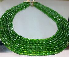 "CHROME DIOPSIDE 16"" INCHES 1STRING BEAUTIFUL BEADS RONDELLE 3MM-4.50MM QUALITY"
