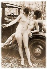 Vintage 104 1920's Erotic Female Nude Sepia Retro Art PHOTO REPRINT A4 / A3 size