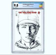 Walking Dead Deluxe 2 Second Printing Red Foil B/W Comics Vault Live CGC 9.8