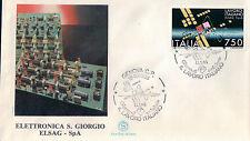 FDC ITALIA PRIMO GIORNO DI EMISSIONE 1988 ELETTRONICA S.GIORGIO ELSAG  7-67
