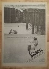 Vespa scooter advert 1984 press advert Full page 30 x 42cm mini poster