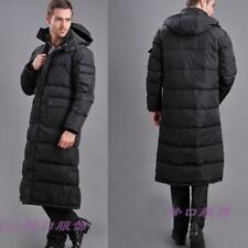 Mens down Cotton jacket long puffer Winter warm coat Hooded Full length Parka sz