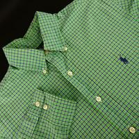 Mens Polo Ralph Lauren Classic Fit Green Oxford Golf Dress Shirt Size 15 32/33 M