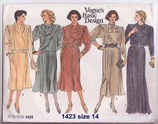 Vintage VOGUE Ladies Basic Design Sewing Patterns * 4 Designs!! A4 Size.