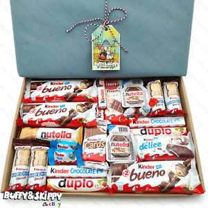 KINDER Chocolate Bueno Hamper Sweet Gift Box Present Birthday Xmas Personalised