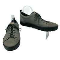 Ecco Golf Shoes Men's Size 10 Extra Width Dark Shadow MC7 Leather Spikeless