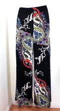 SINEQUANONE France Wide Leg Paisley Print Black Purple Jeans Pants Stylish 4 5 6
