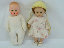 "LOT OF 2 VINTAGE BABY DOLLS,ONE MARKED ""U"""