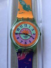 Wristwatch SWATCH Gent CURLING (GG117)-Full working! Orange/purple! Sporty! L@@K